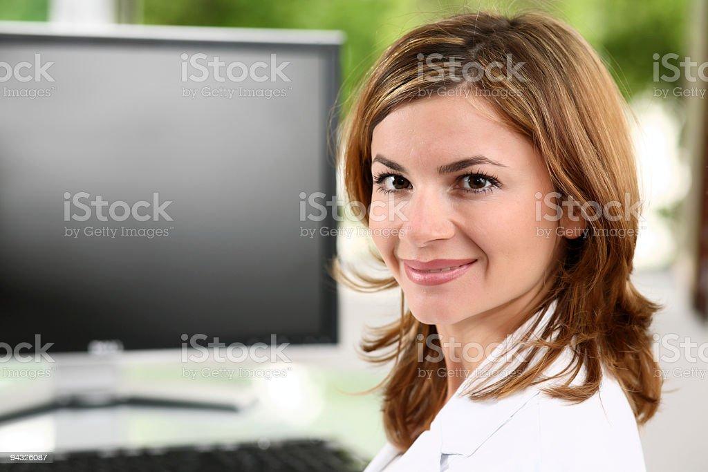 Smiling  businesswoman. royalty-free stock photo