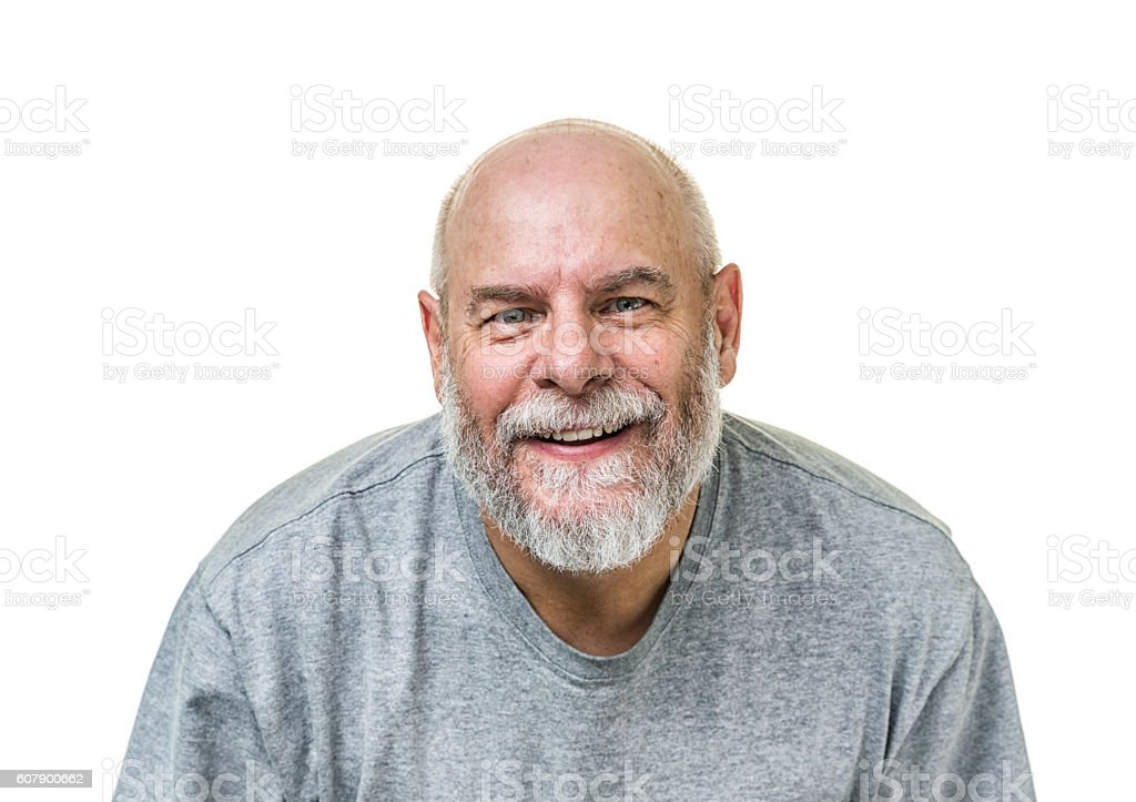 Smiling Casual T-Shirt Senior Adult Man stock photo