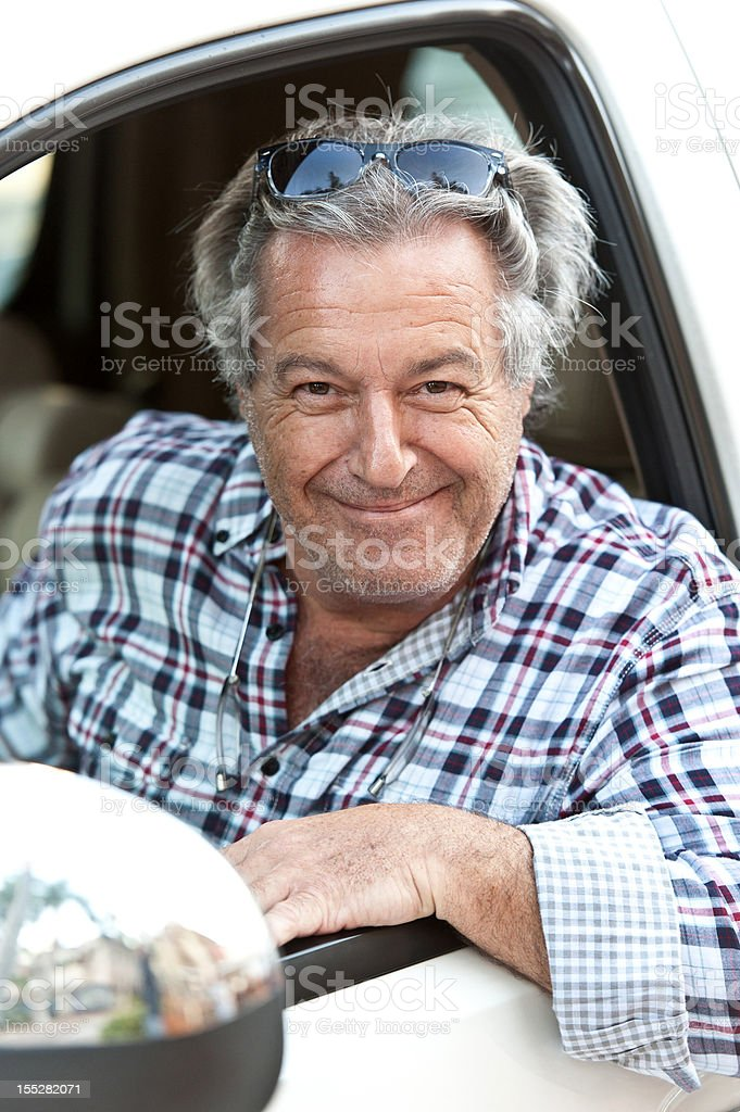 Smiling Caucasian Sixty years old man royalty-free stock photo