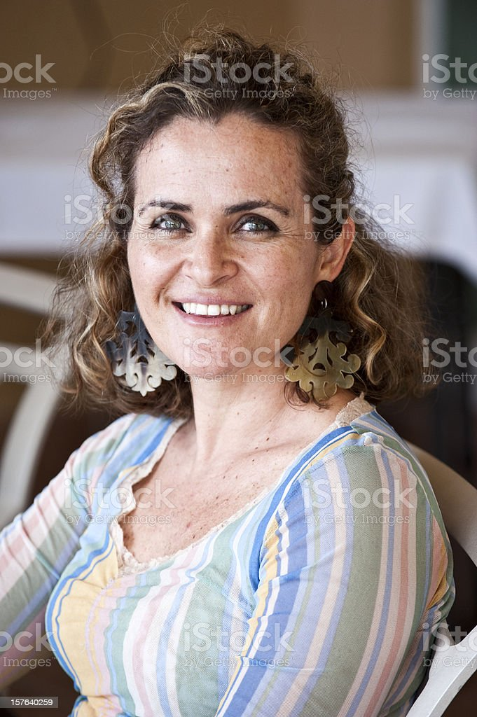 Smiling Caucasian Woman royalty-free stock photo