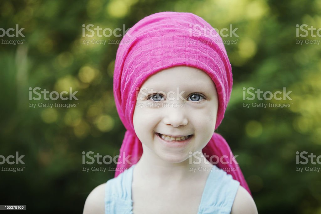 Smiling Chemo Child royalty-free stock photo