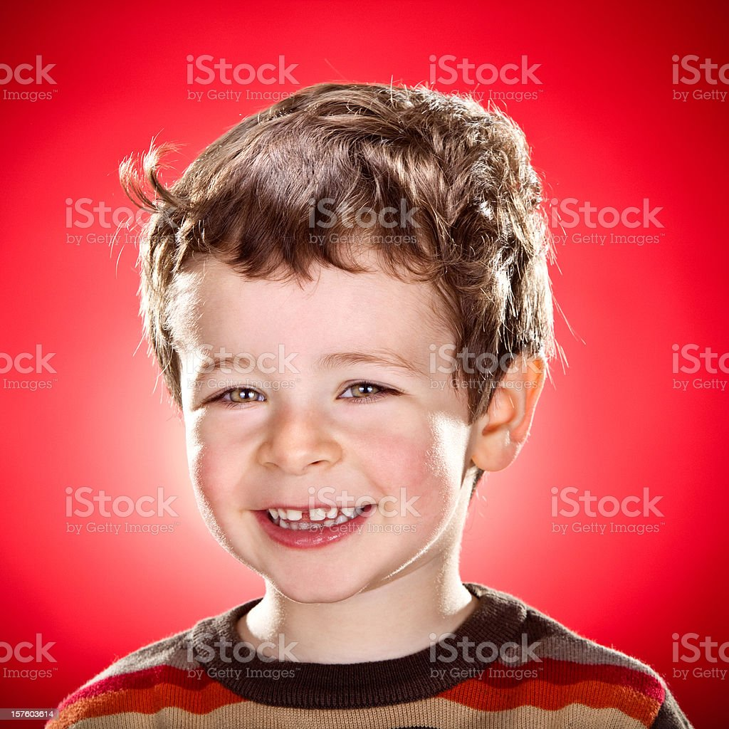 smiling child portrait on colored background royalty-free stock photo