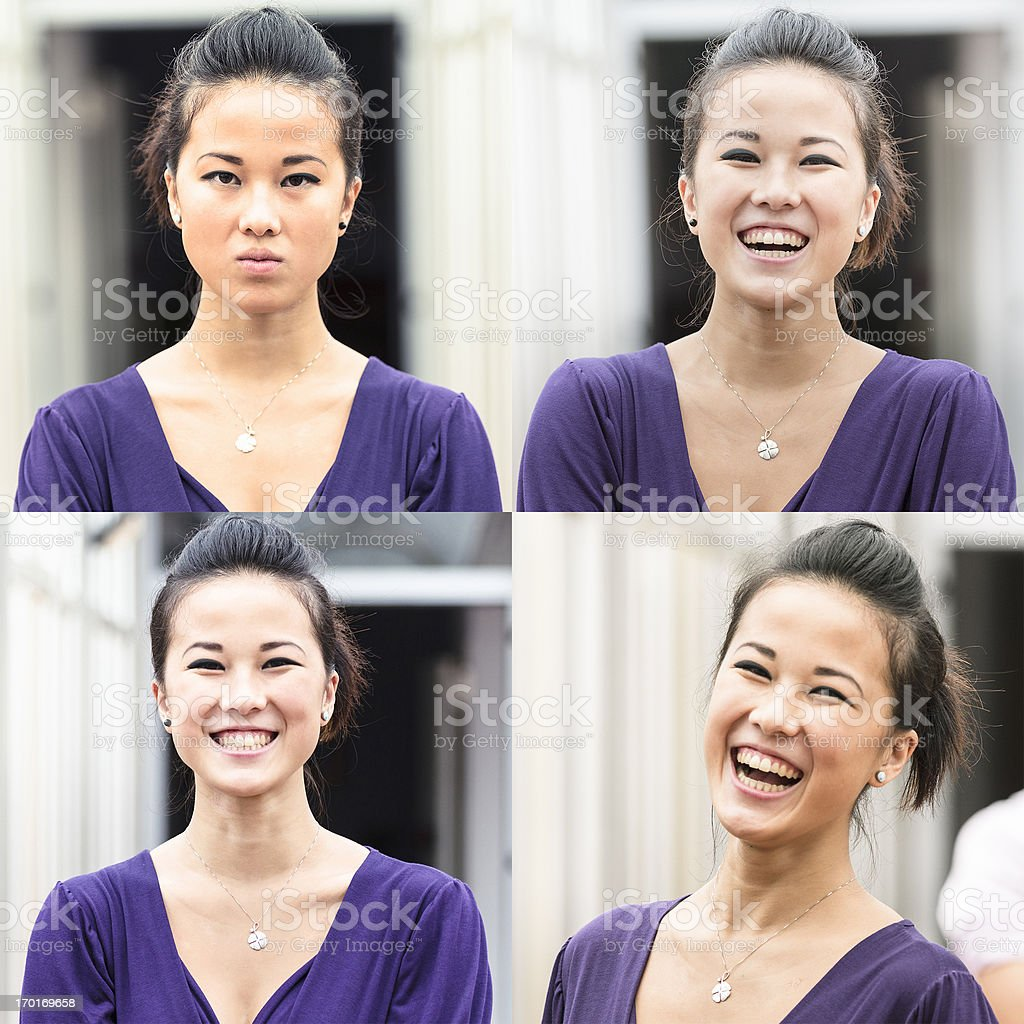 Smiling chinese woman royalty-free stock photo