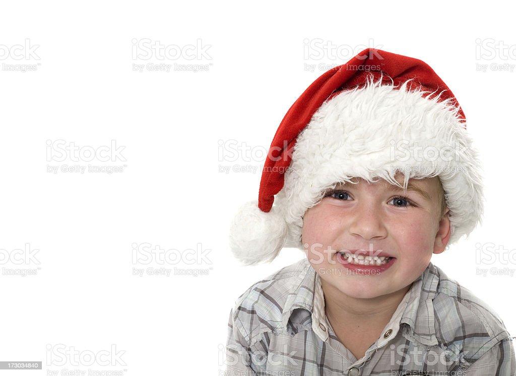 Smiling Christmas Boy stock photo