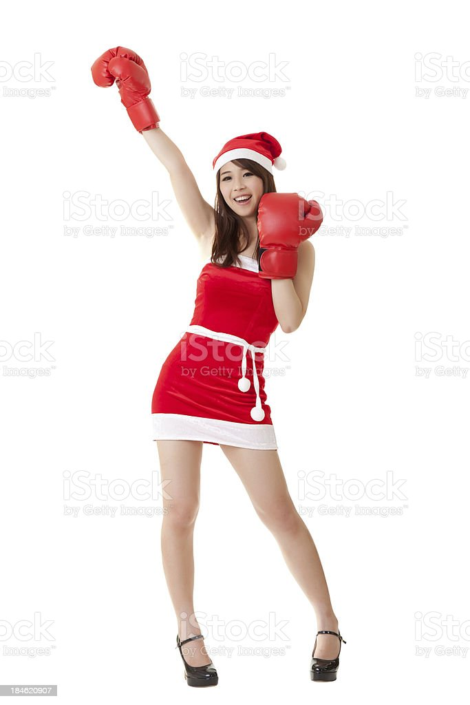 Smiling Christmas girl royalty-free stock photo