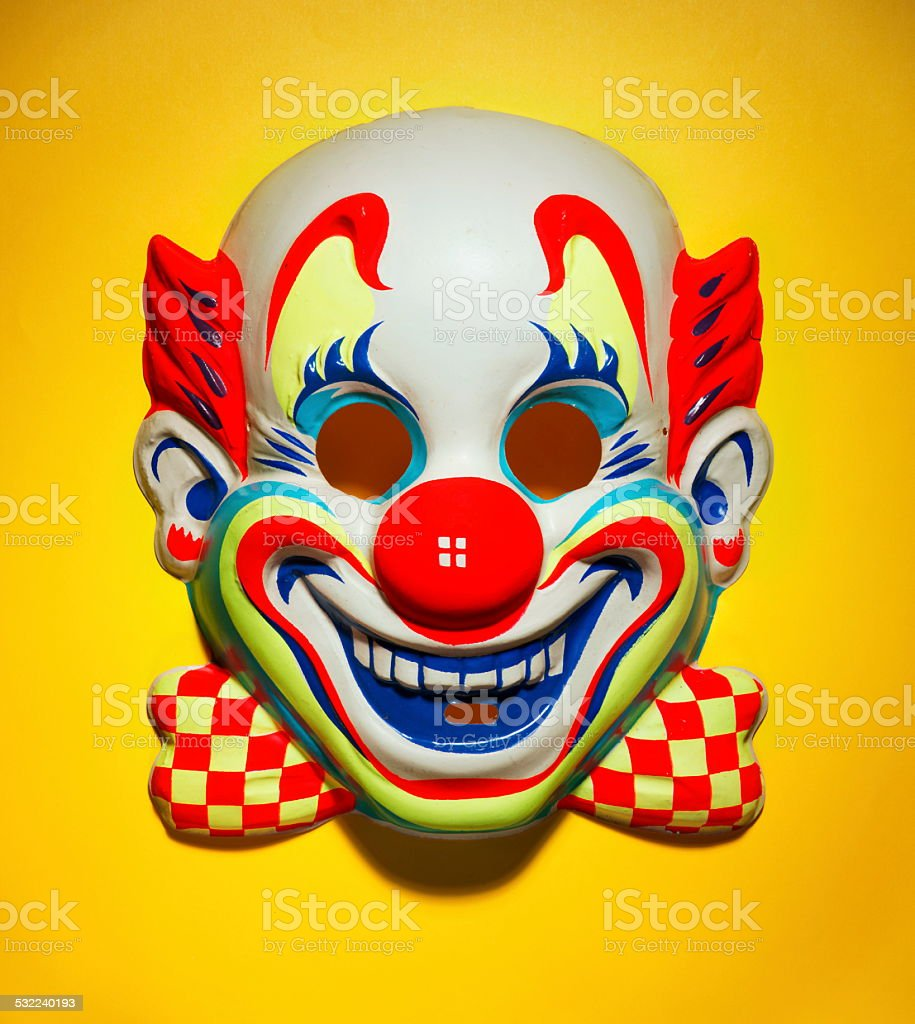 Smiling Clown Mask stock photo