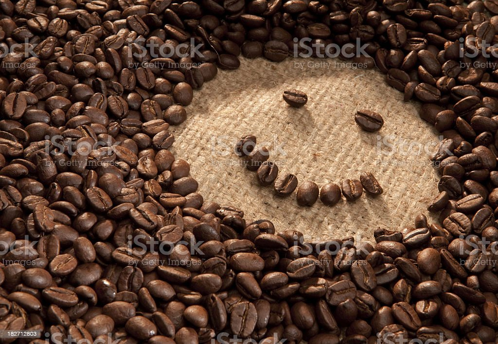 Smiling coffee beans. royalty-free stock photo