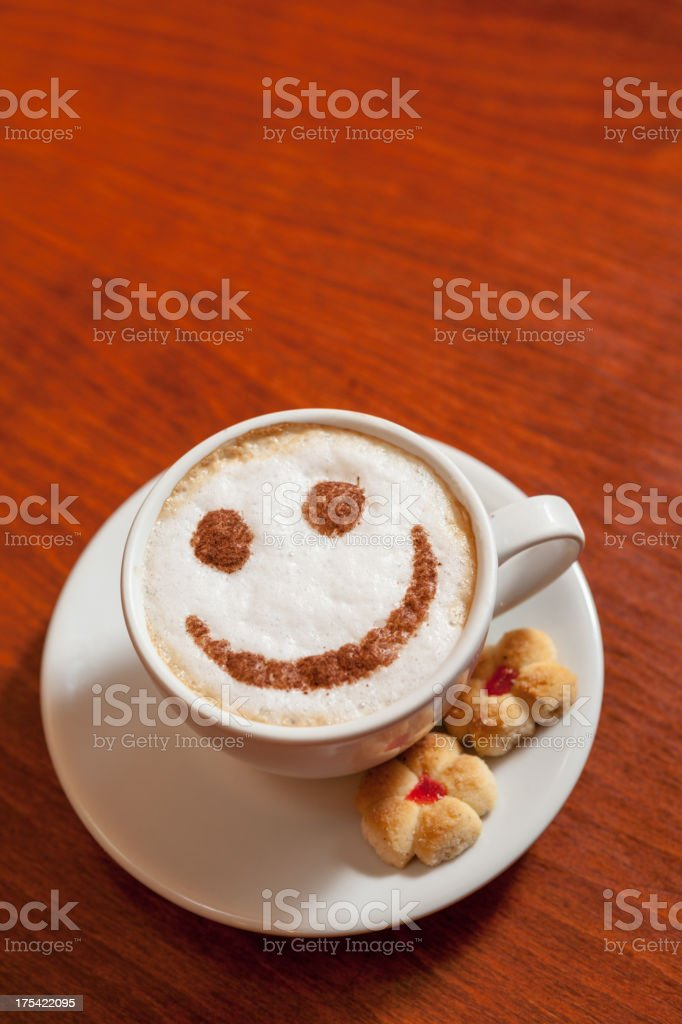 Smiling Coffee stock photo