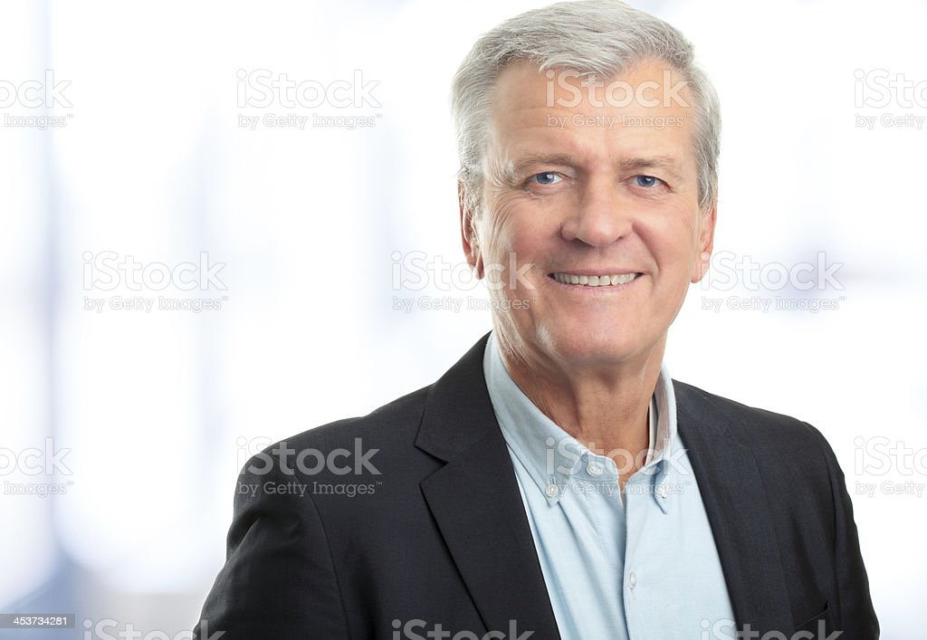 Smiling, confident business CEO  stock photo