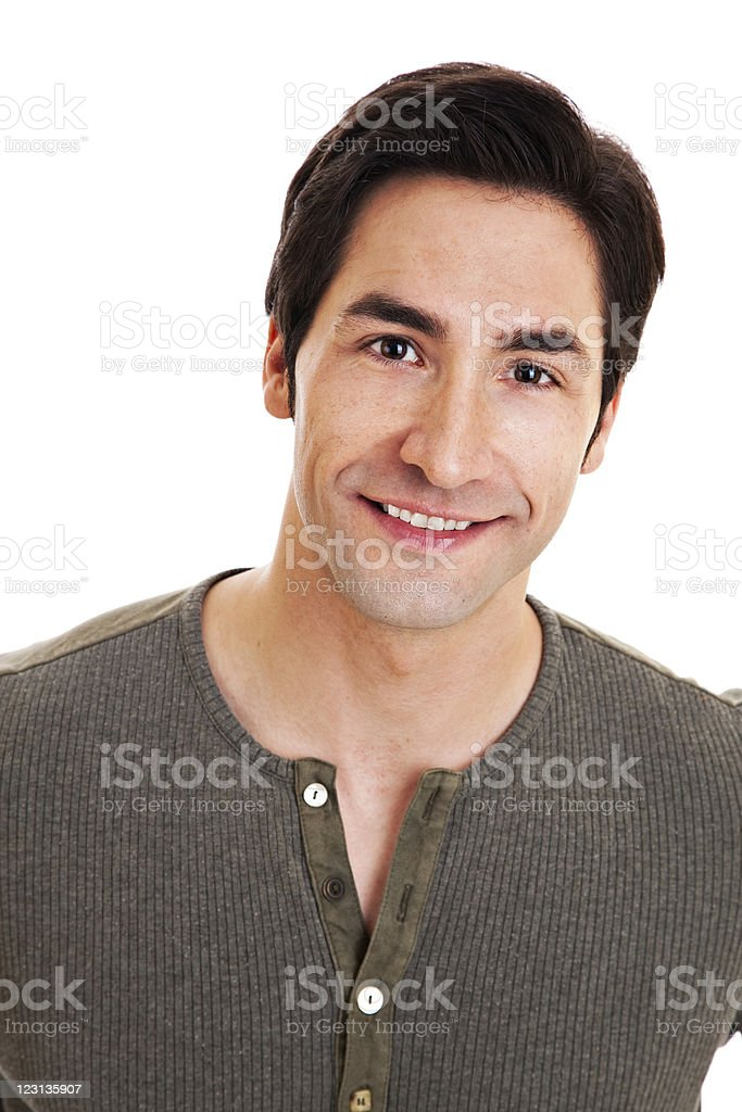 Smiling confident man in casual wear stock photo