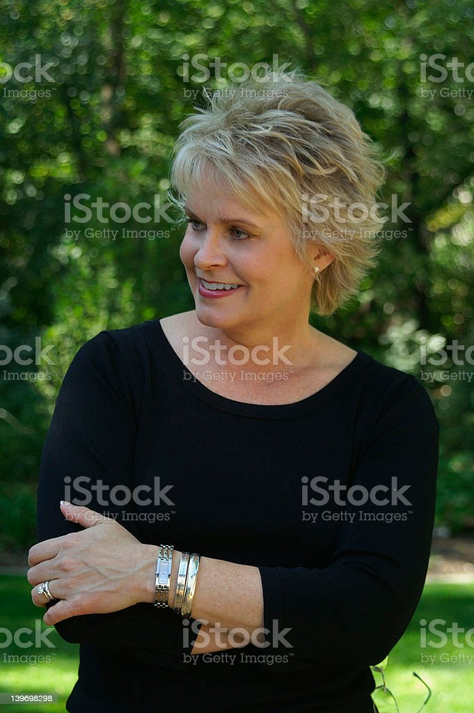 Smiling & Confident royalty-free stock photo