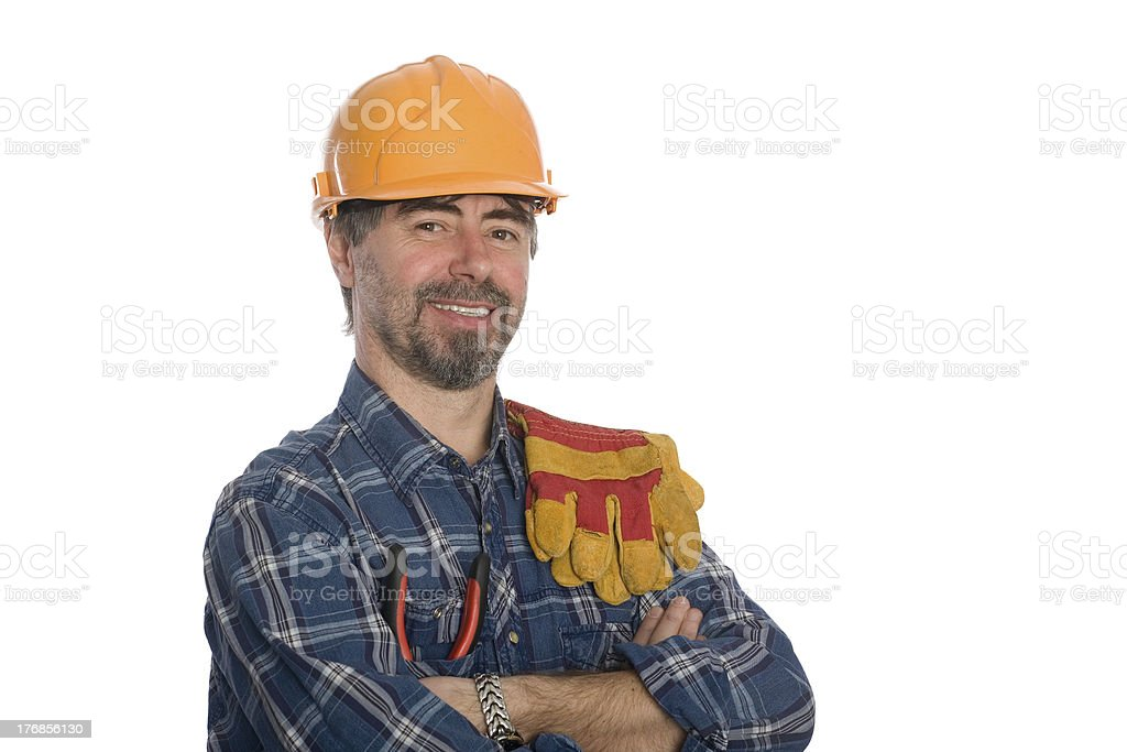 Smiling construction worker. royalty-free stock photo