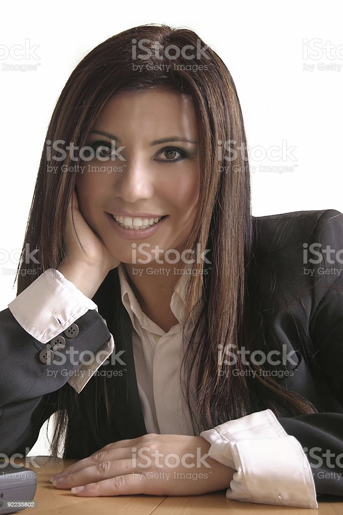 Smiling consuttant royalty-free stock photo