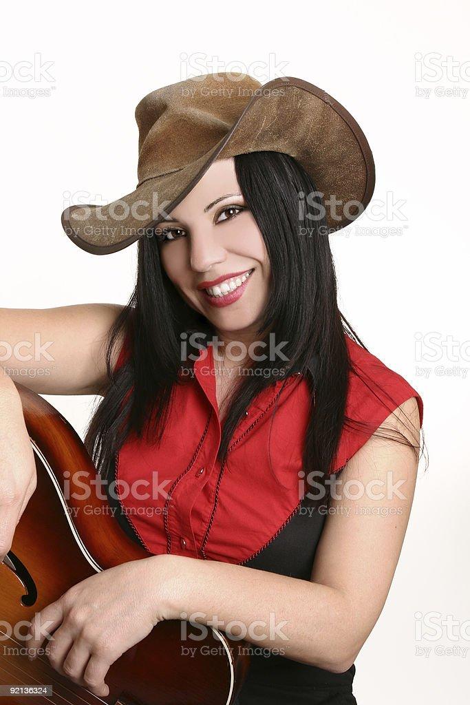 Smiling country girl stock photo