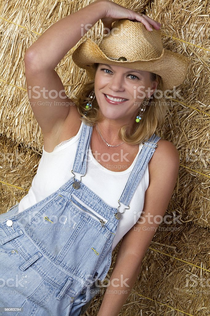 Smiling Country Woman royalty-free stock photo
