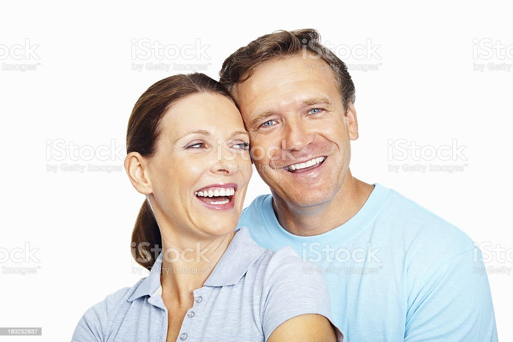 Smiling couple embracing each other royalty-free stock photo
