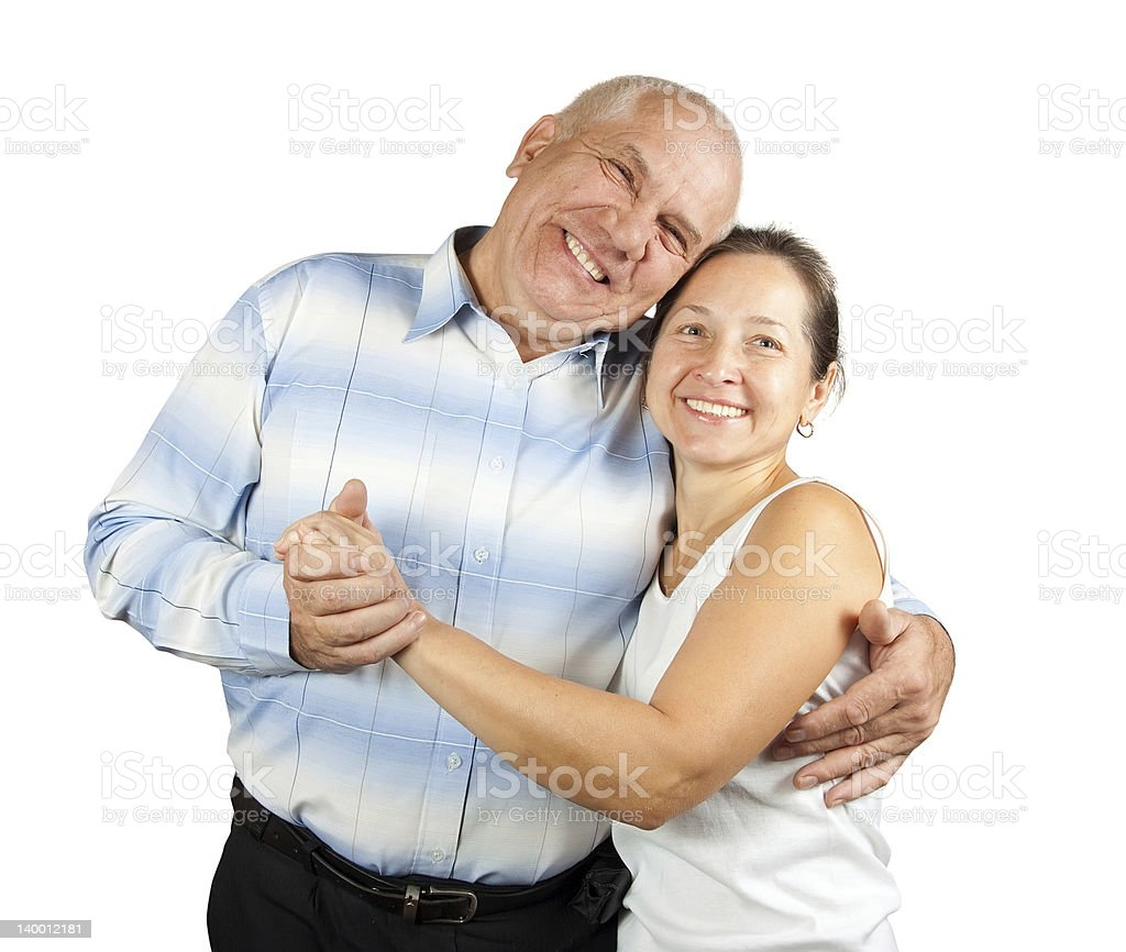 smiling couple in love royalty-free stock photo