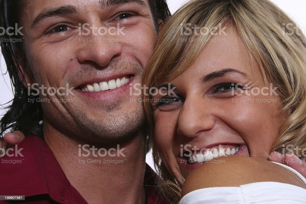 Smiling couple royalty-free stock photo