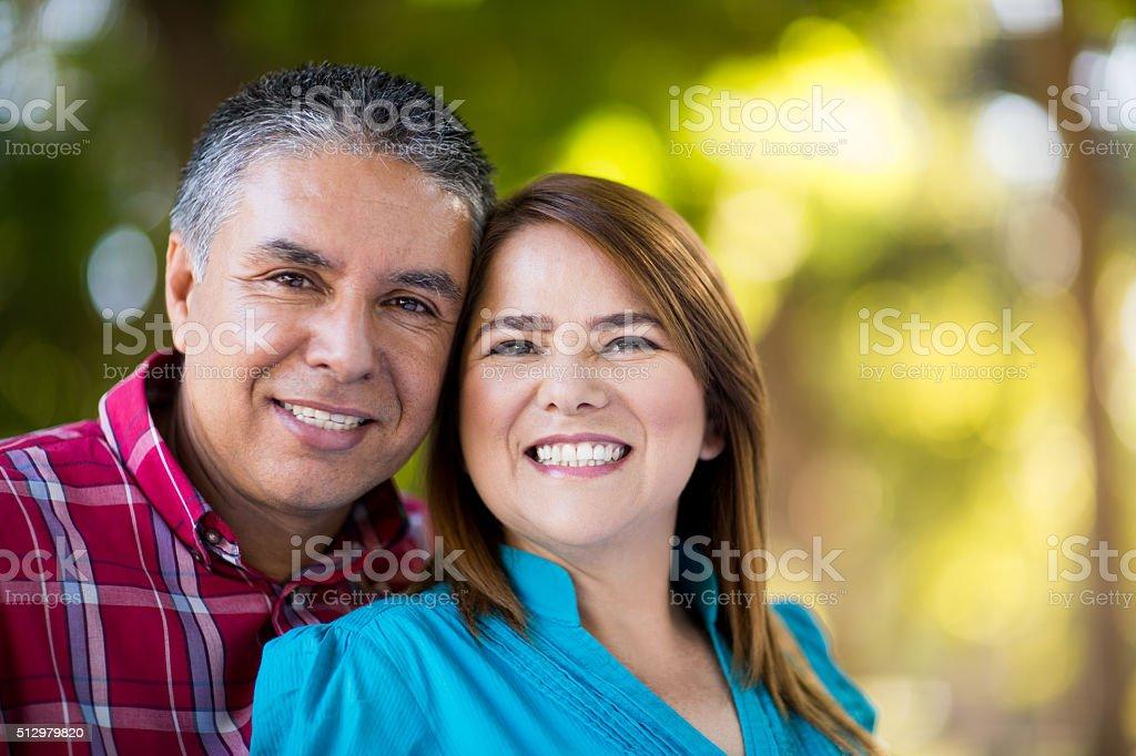 Smiling couple stock photo