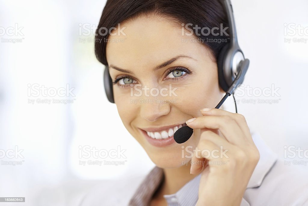 Smiling customer service agent royalty-free stock photo