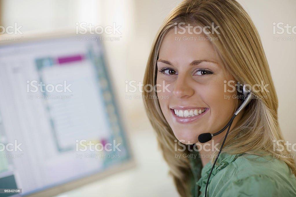 Smiling customer service royalty-free stock photo