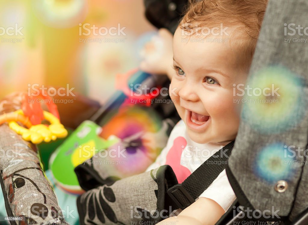 Smiling Cute Little Baby stock photo