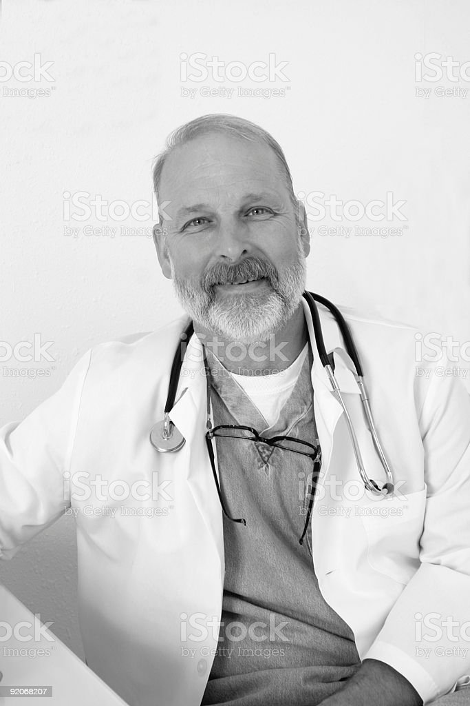 Smiling doctor stock photo