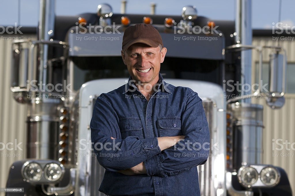 Smiling Driver stock photo