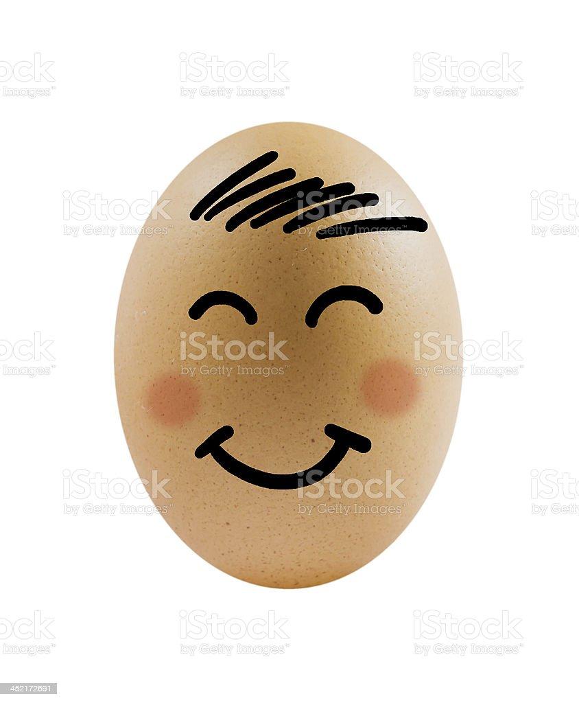 smiling egg royalty-free stock photo