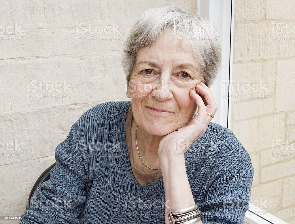 Smiling Elderly Woman. royalty-free stock photo