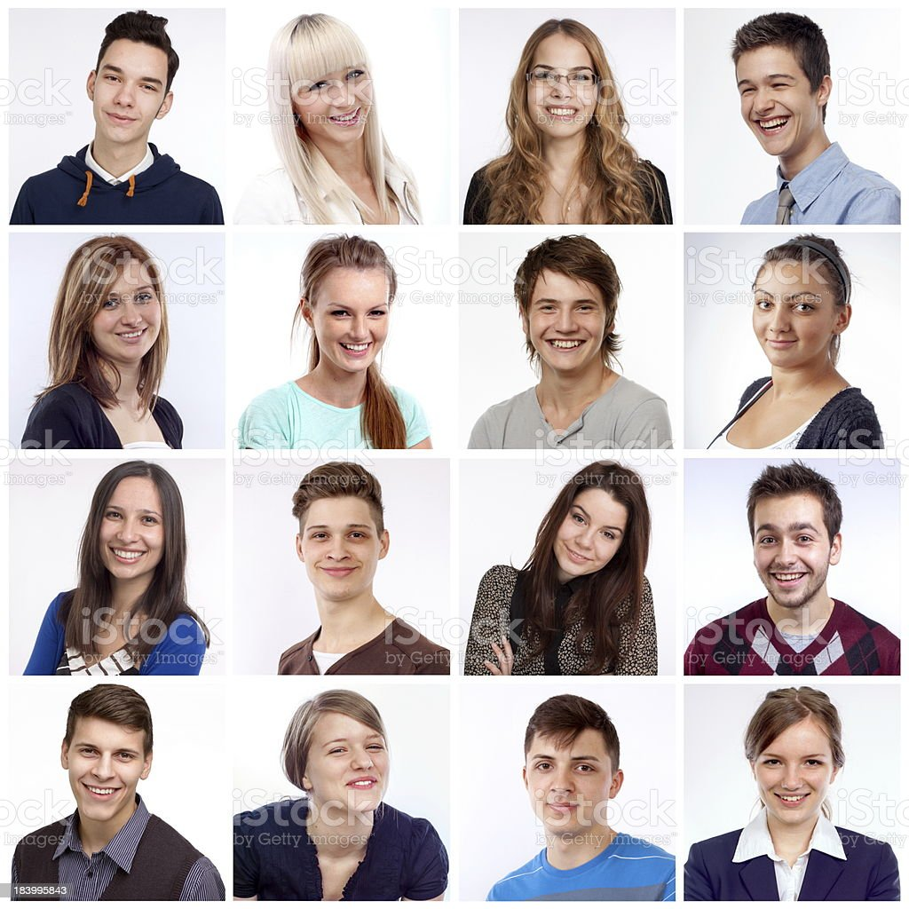 Smiling faces stock photo