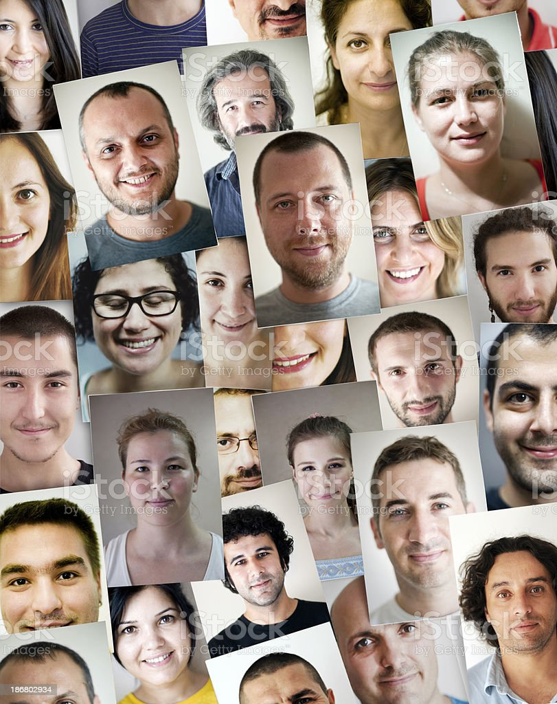 Smiling Faces royalty-free stock photo