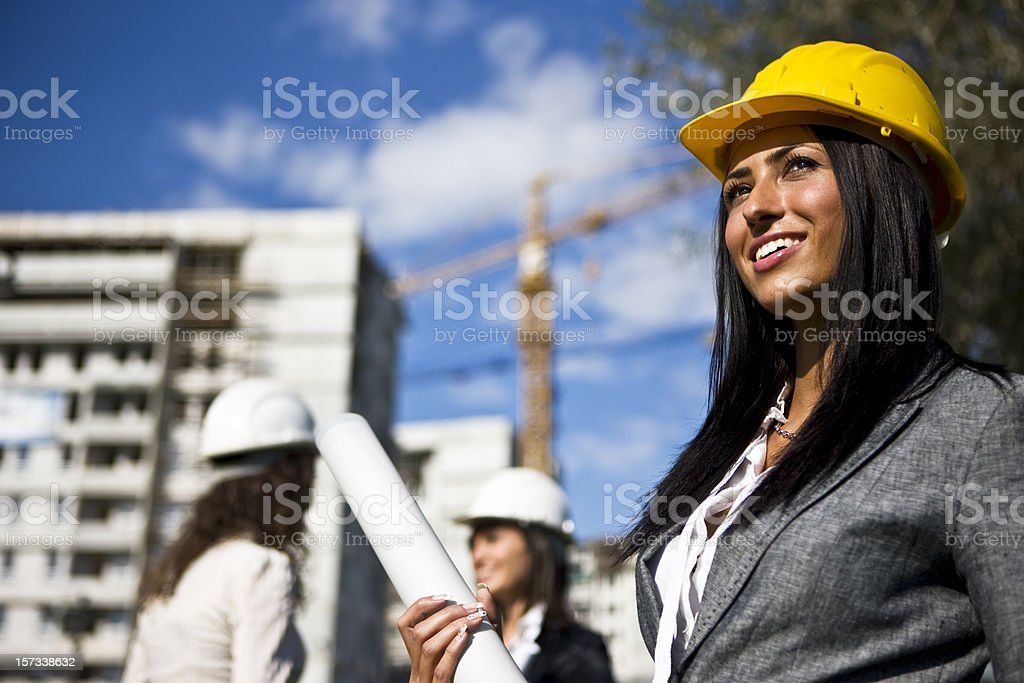 Smiling female architect royalty-free stock photo
