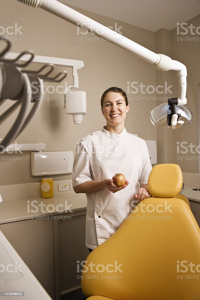 Smiling female Dentist royalty-free stock photo