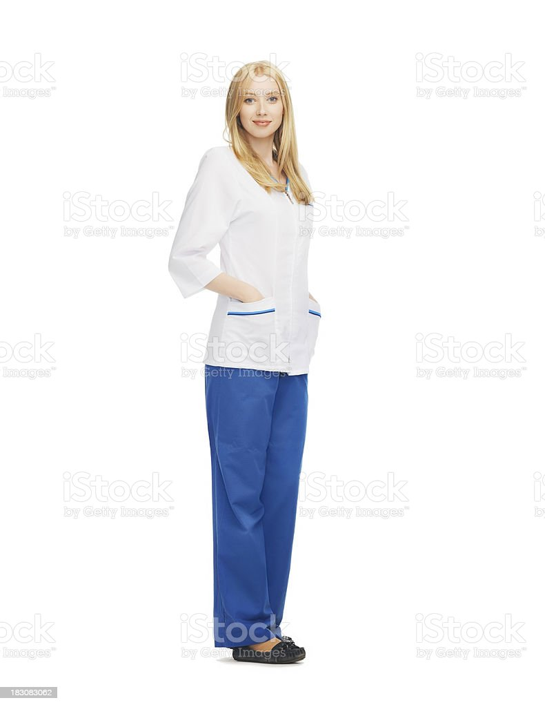 smiling female doctor royalty-free stock photo