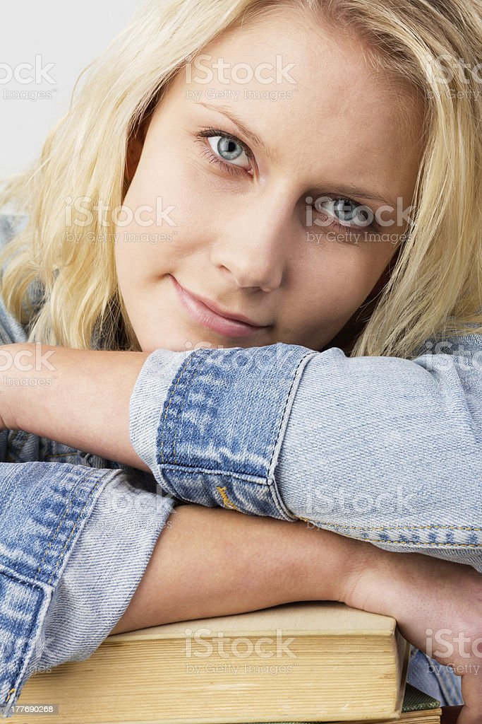 Smiling female student royalty-free stock photo