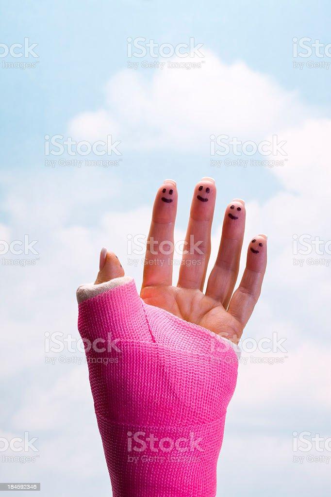 Smiling Fingers stock photo