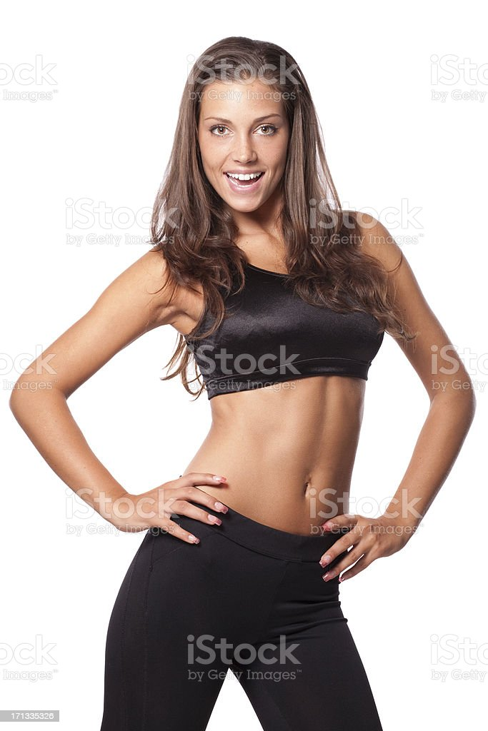 Smiling fitness girl royalty-free stock photo