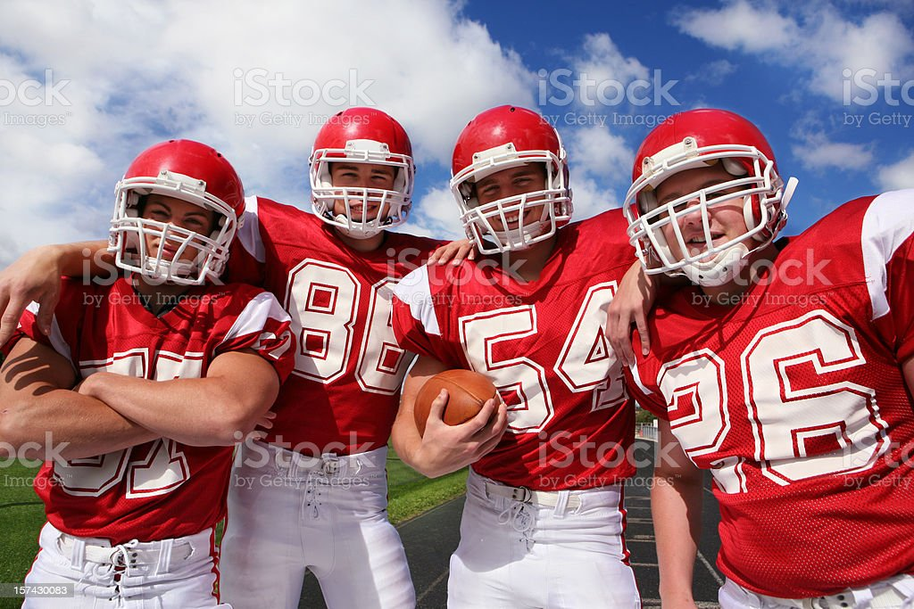 Smiling Football Players royalty-free stock photo
