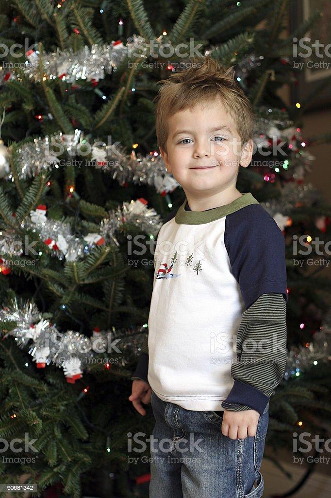 Smiling for Santa stock photo