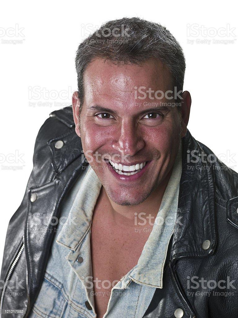 Smiling forty something mature man royalty-free stock photo