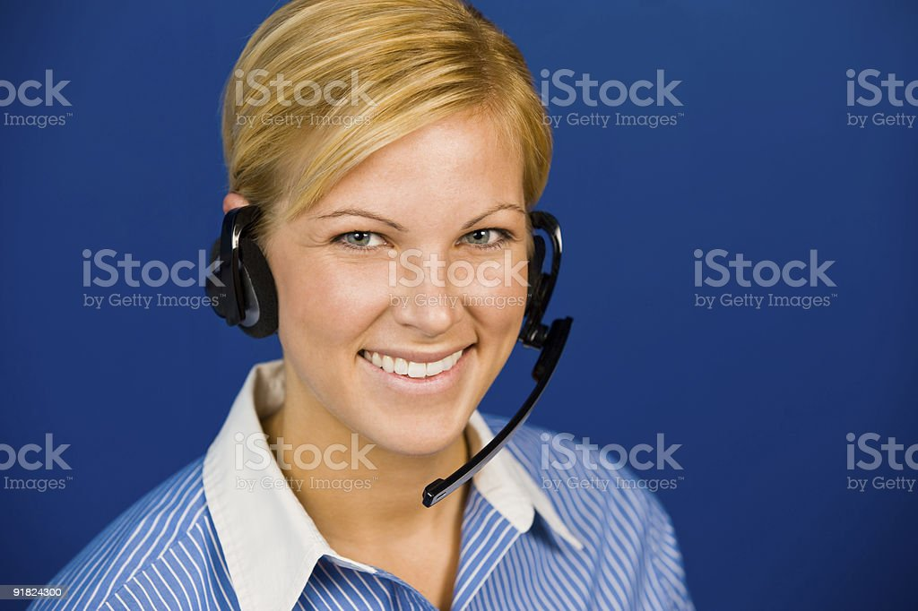 Freundlich lächelnd Call Center Betreiber Lizenzfreies stock-foto