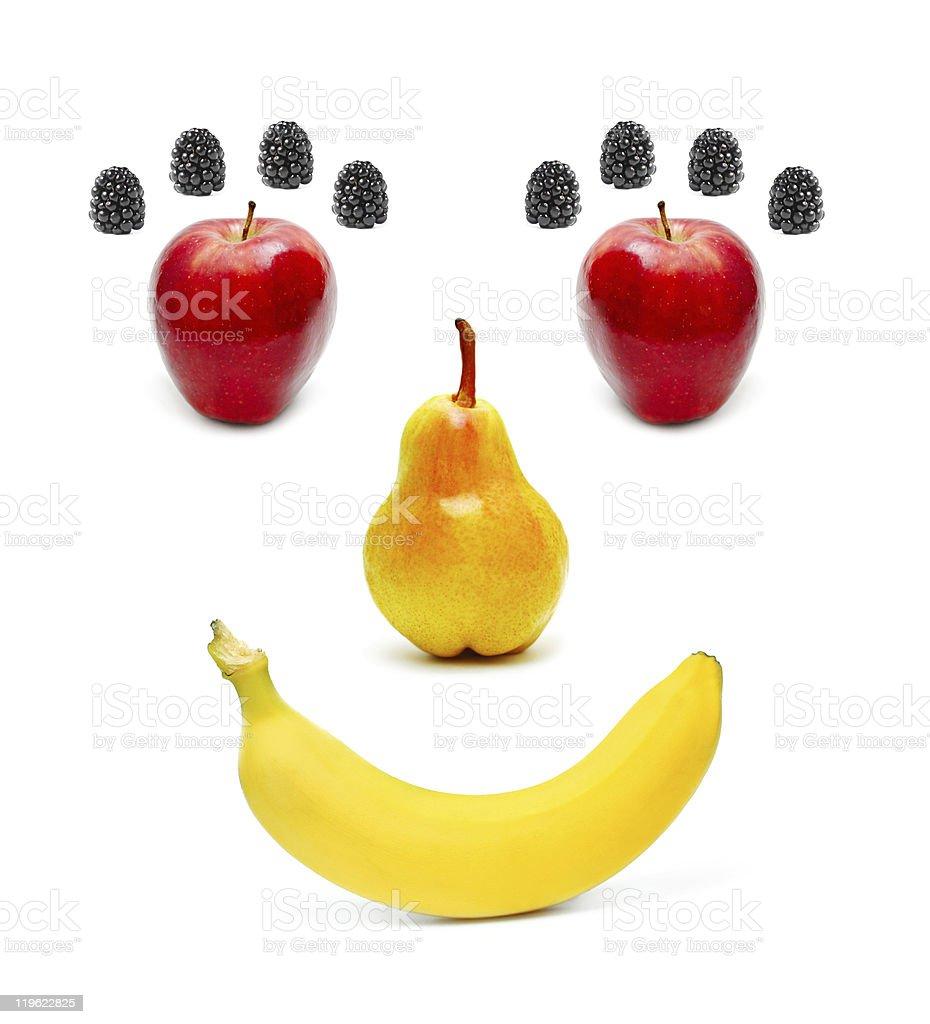 Smiling fruits royalty-free stock photo