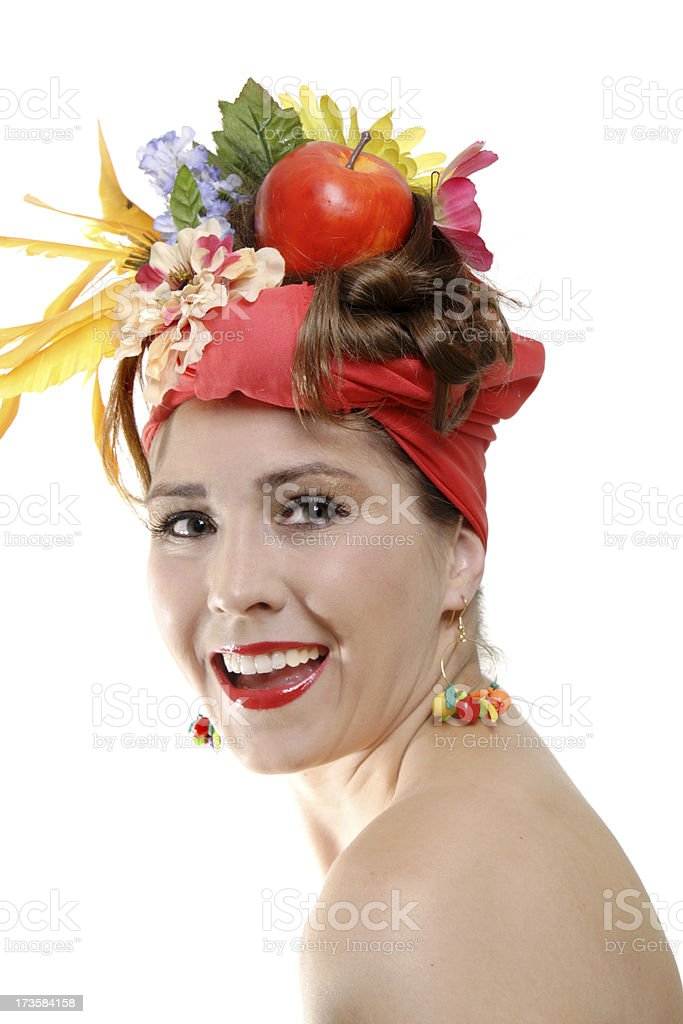 Smiling Fruity Girl Series royalty-free stock photo