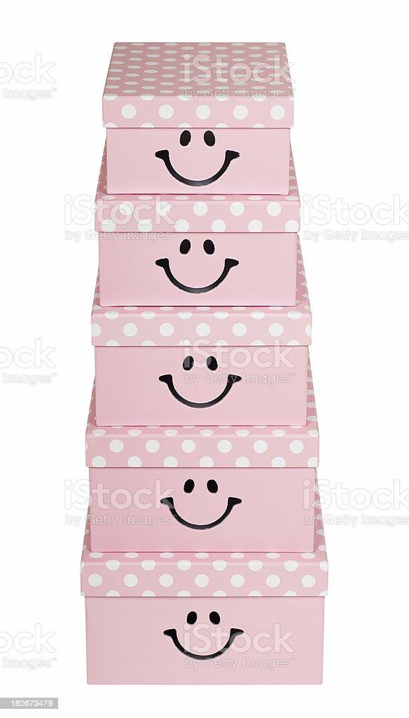 Smiling gift box royalty-free stock photo