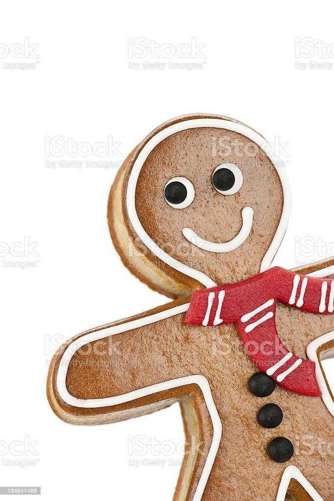 Smiling Gingerbread Man stock photo