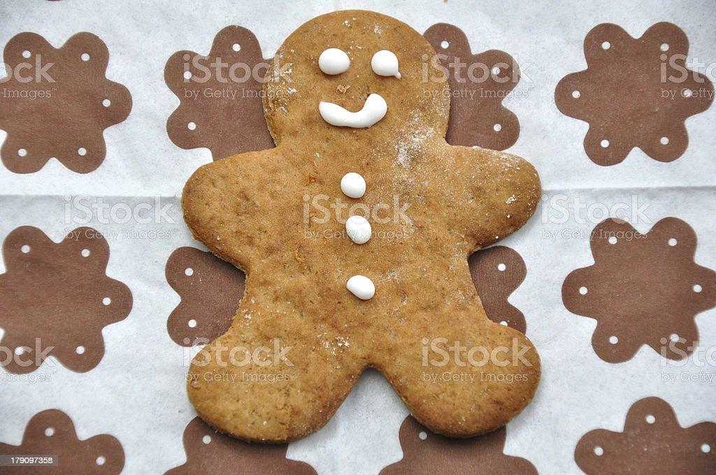 Smiling gingerbread men royalty-free stock photo