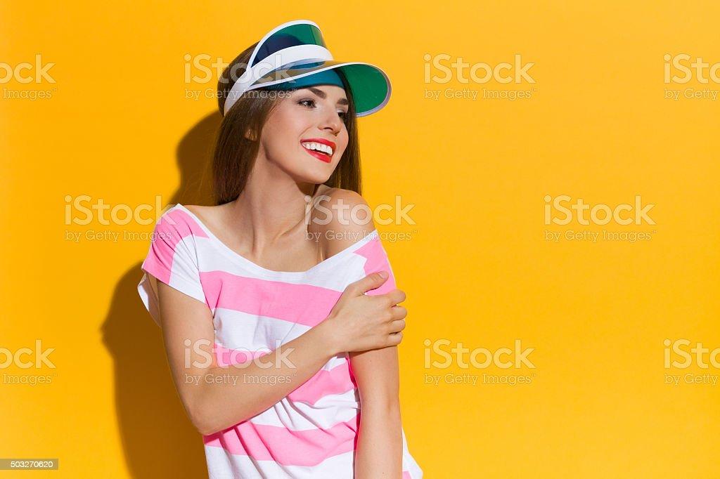 Smiling Girl In The Sunlight stock photo