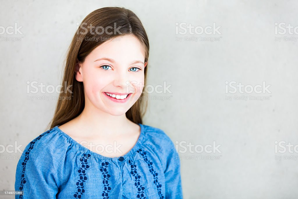 Smiling Girl looking into camera royalty-free stock photo