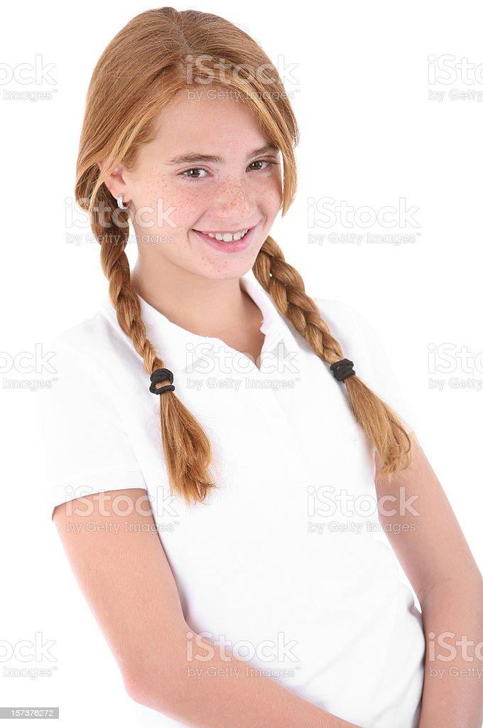 Smiling girl. royalty-free stock photo